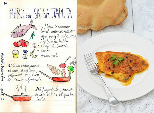 Japuta con salsa de tomate