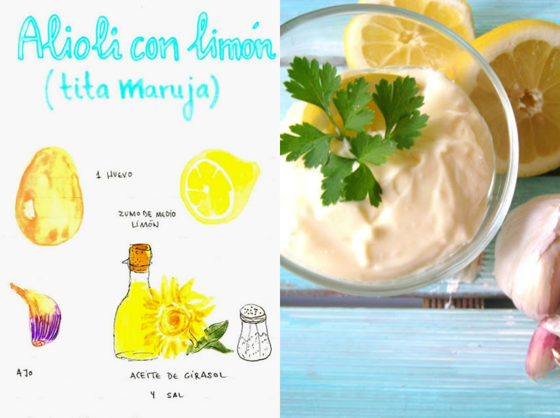 Alioli con limón de la tita Maruja