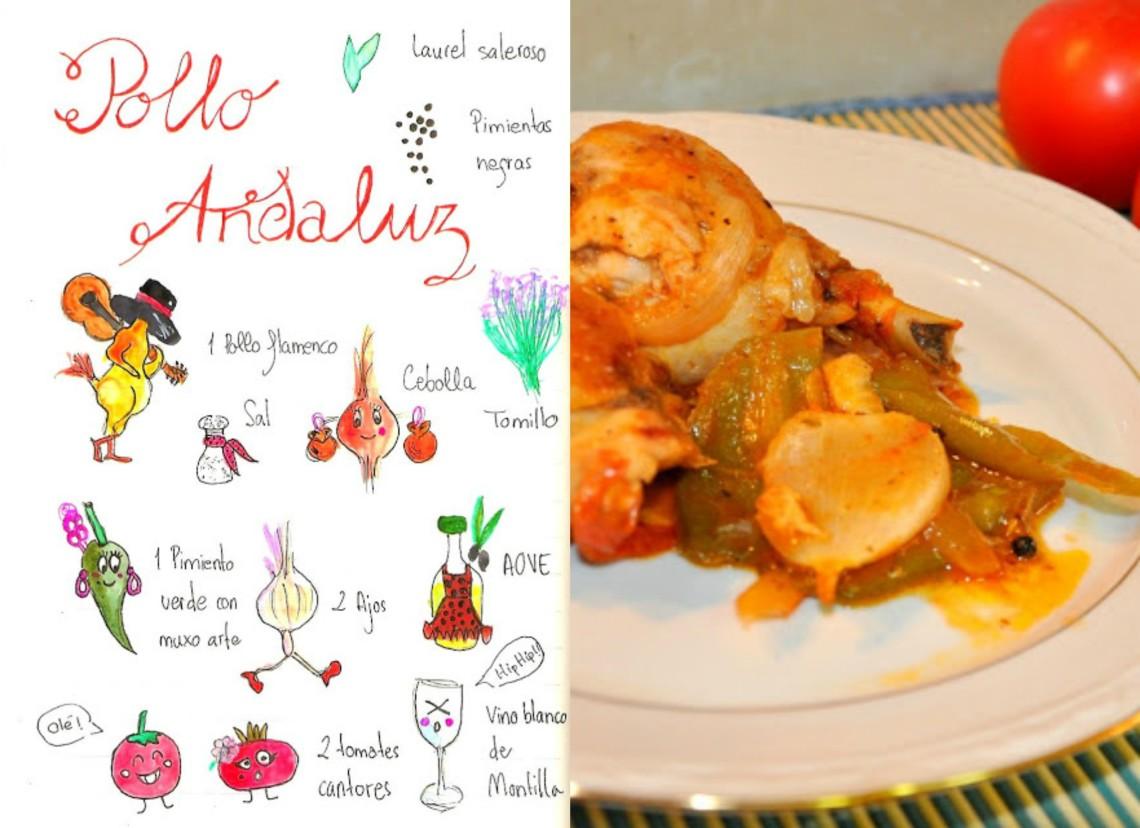 Pollo Andaluz para celebrar el día de Andalucía