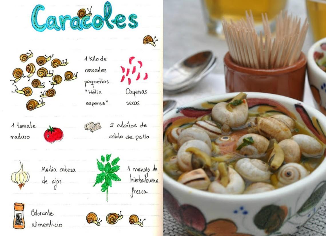 Caracoles con Hierbabuena | Tapa típica Ubetense