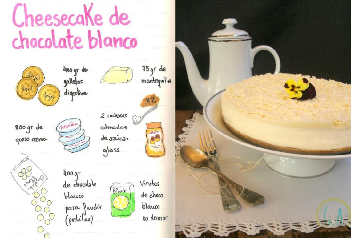 Cheesecake 100% de chocolate blanco