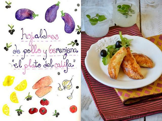 Empanadillas de pollo y berenjena al limón