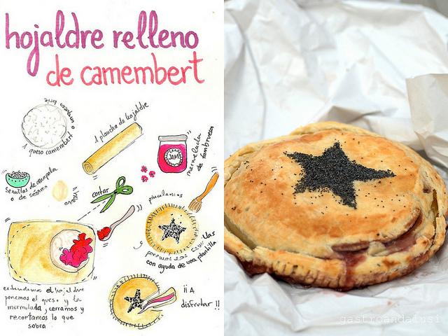 Hojaldre relleno de Camembert