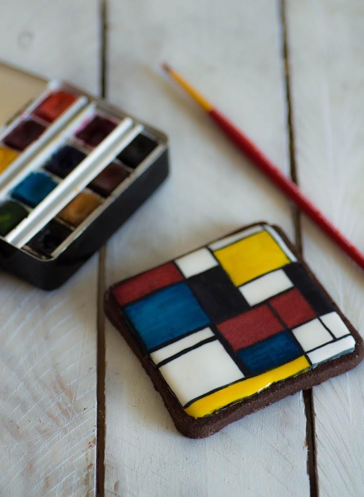 Galleta Pintada | Piet Mondrian