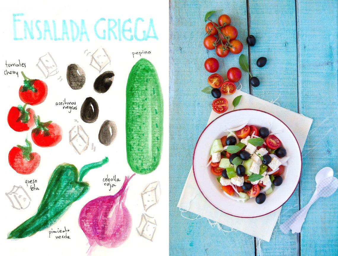 Ensalada griega clásica [saláta horiátiki] #elasaltablogs