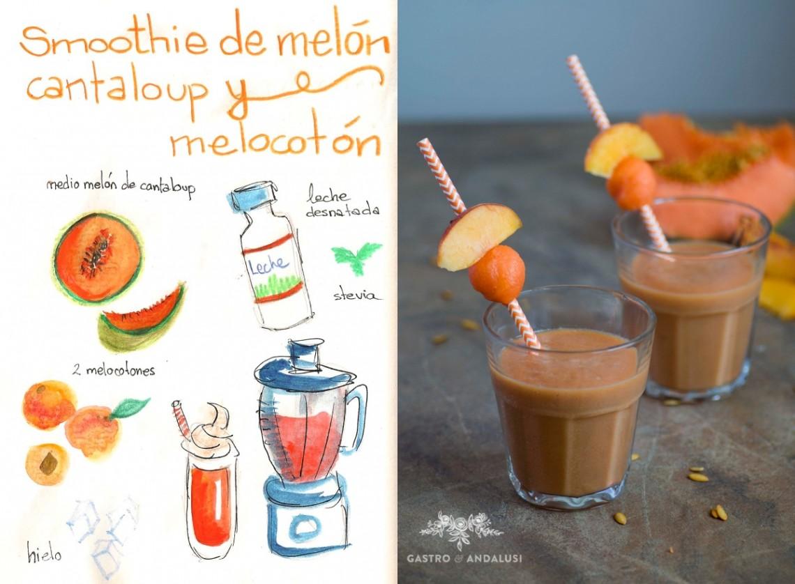 SMOOTHIE de Melocotón y Melón de Cantaloup