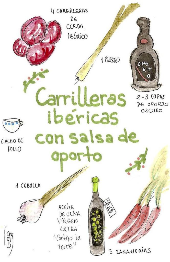 Recetas ilustradas carilleras en salsa de oporto