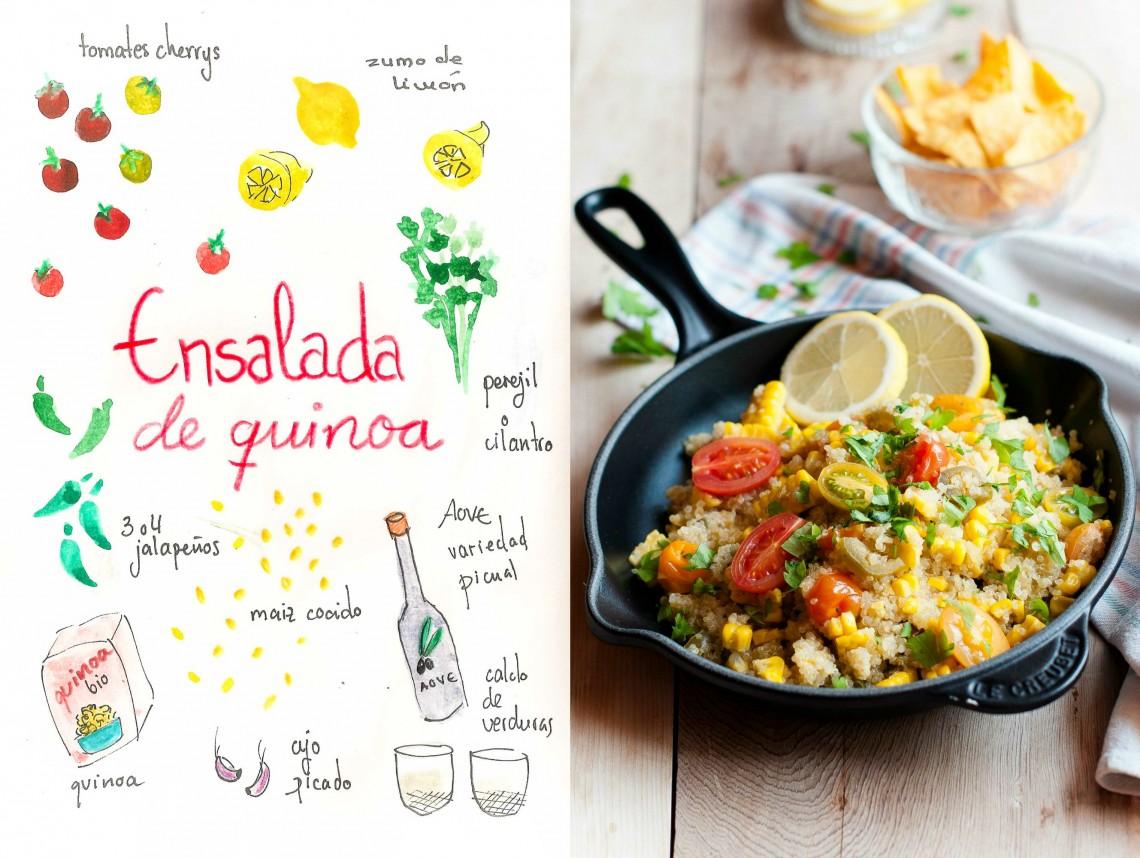 Ensalada de quinoa y tomates cherrys