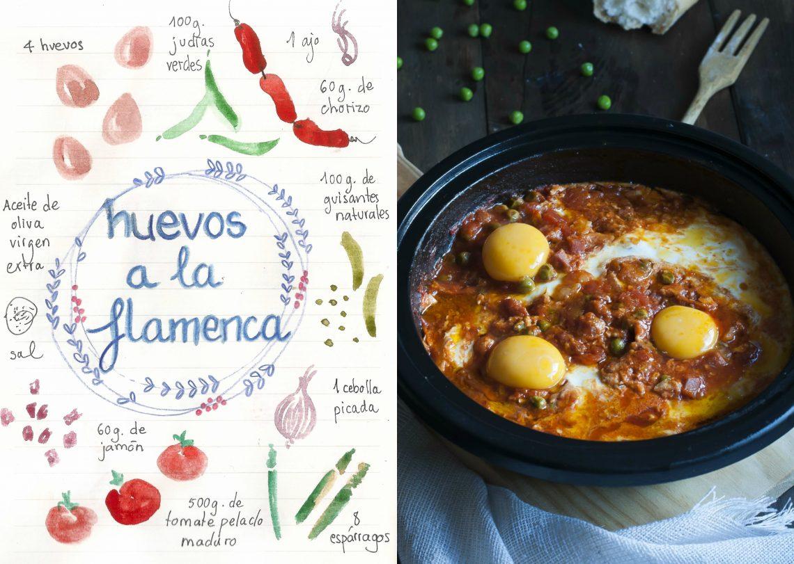 Huevos a la flamenca. Receta Andaluza