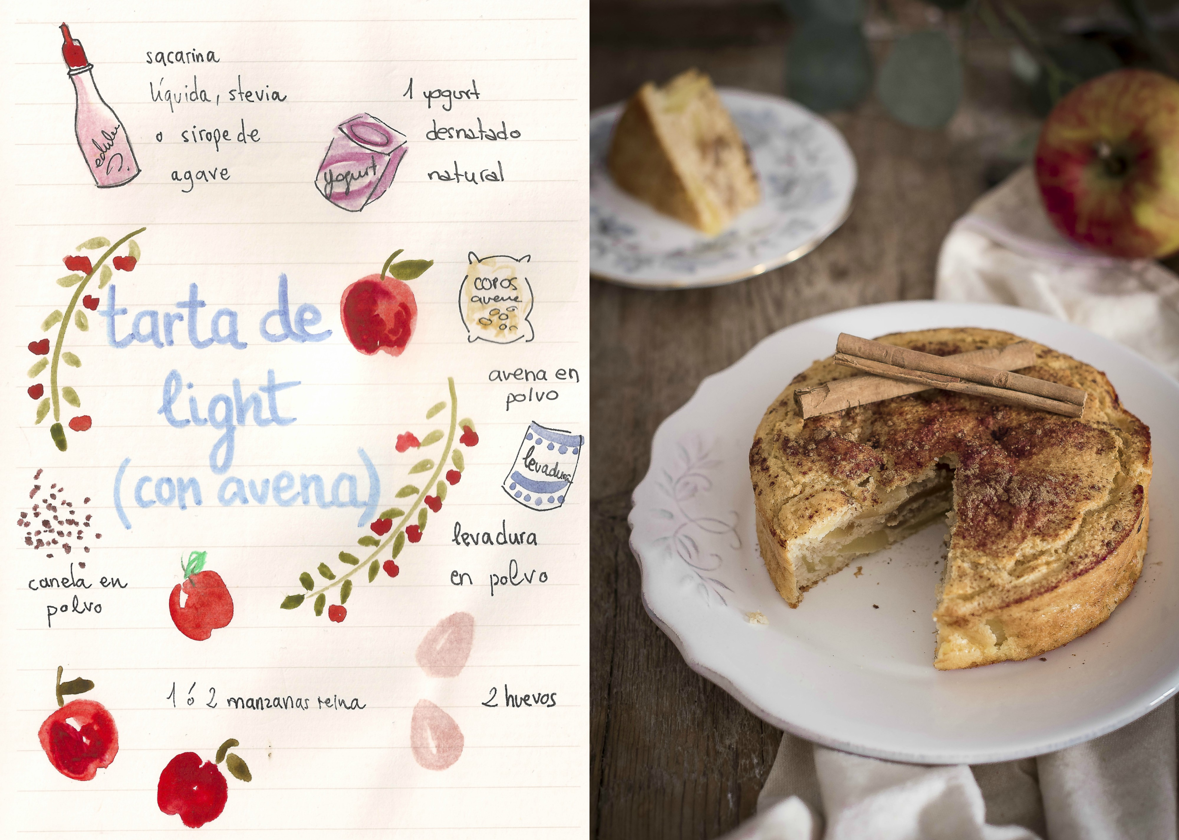Tarta De Manzana Light Sin Azúcar Gastroandalusi