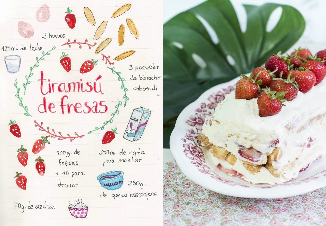 Tiramisú de fresas. Una versión fresca y natural