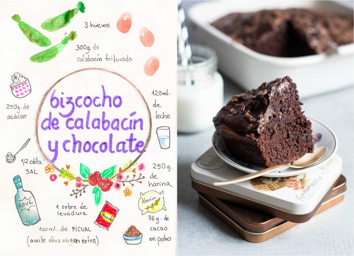 Bizcocho de calabacín y chocolate