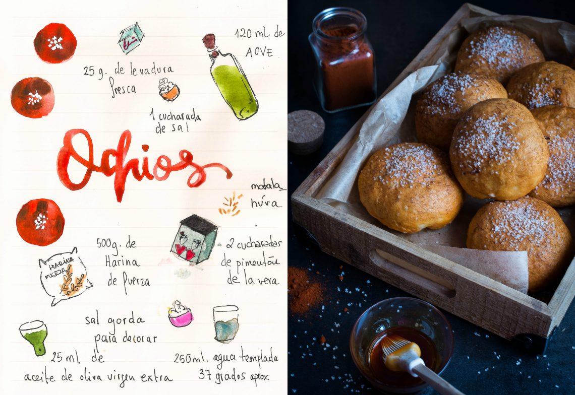 Ochios con pimentón, típicos de La Loma