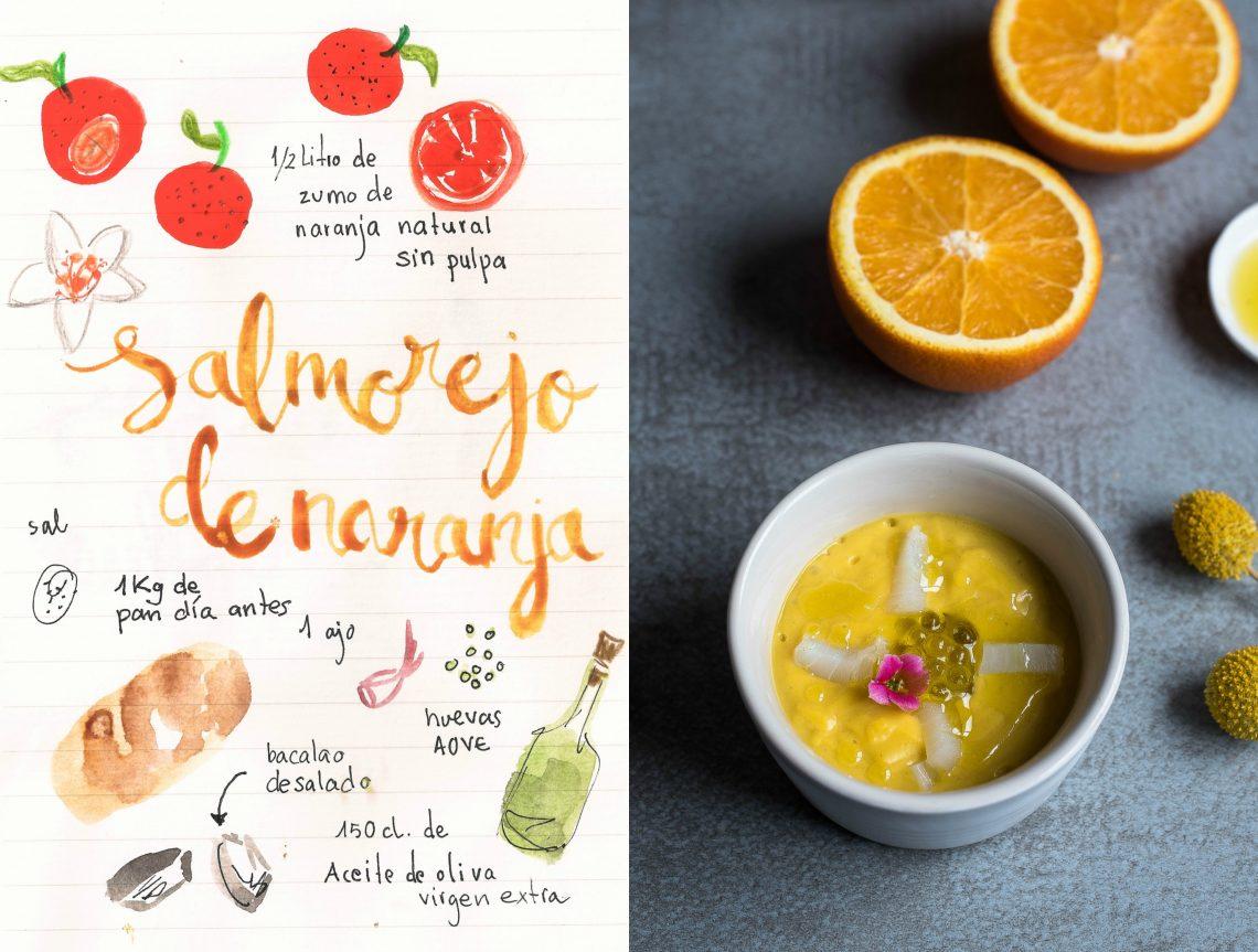 Salmorejo de Naranja con bacalao |Porra de Naranja