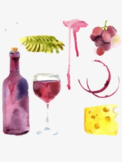 ilustracion vino