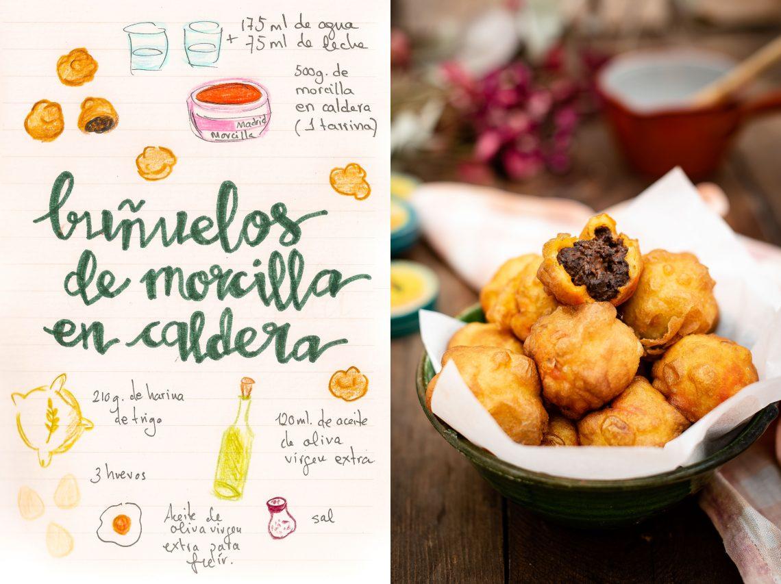 Buñuelos de Morcilla en caldera de Úbeda (Jaén)